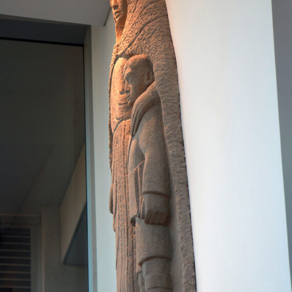 Carved Waikerie Limestone 200cmH x 110cmW x 25cmD