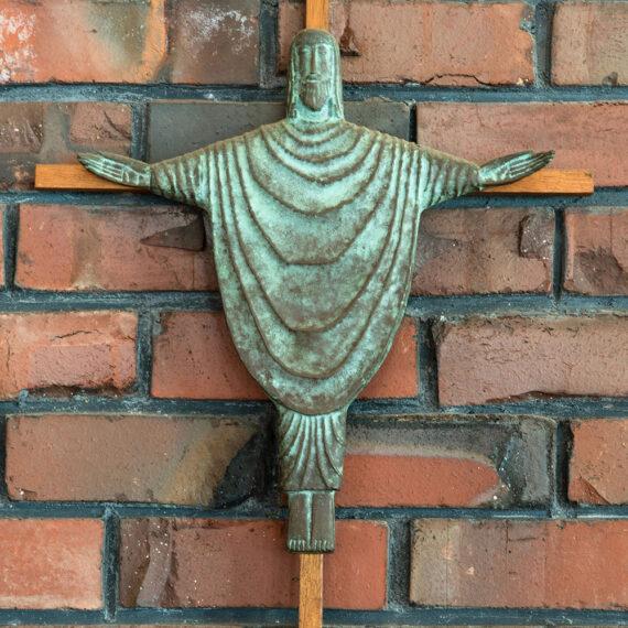 Oxidised cast bronze. 42cmH x 35cmW